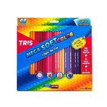 Lapis de Cor 48 Cores  Mega Soft Color com Apontador - Tris -