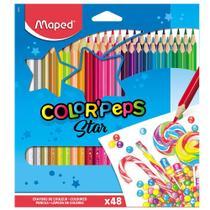 Lápis de Cor 48 Cores Triangular Maped Color Peps -