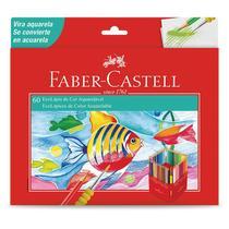 Lápis de cor 60 cores aquarelável - 120260G - Faber-Castell -