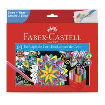 Lápis de Cor 60 Cores Sextavado Faber-Castell Ecolápis 120160g -