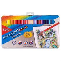 Lápis de Cor 72 Cores Tris Mega Soft Color Estojo Metálico - Summit