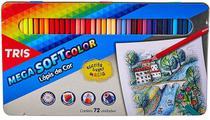 Lápis De Cor 72 Cores Tris Mega Soft Color Estojo Metálico -