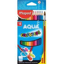 Lapis de cor acqua com 12 cores + pincel  - 836011zv - Maped