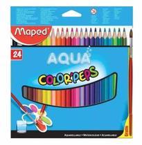 Lapis de cor acqua com 24 cores + pincel -836013zv - Maped