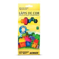 Lápis de Cor Acrilex 12 cores - 09692 -