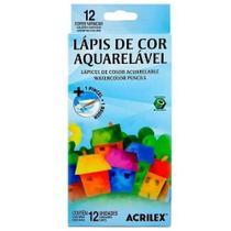Lápis de cor acrilex 12 cores aquarelável - Marca