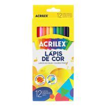 Lapis de cor acrilex 12 cores ref 09692 -