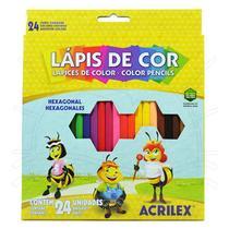 Lápis de Cor Acrilex - 24 cores -