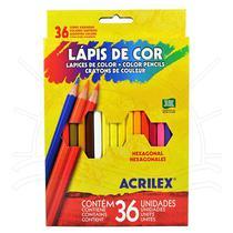 Lápis de Cor Acrilex - 36 cores -