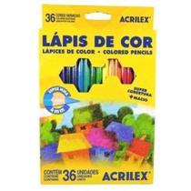Lápis de cor acrilex 36 cores -