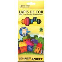Lápis de Cor Acrilex Hexagonal 12 Cores 09692 -