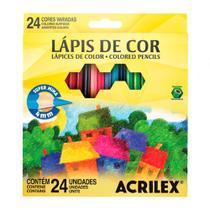 Lápis de Cor Acrilex Hexagonal 24 Cores 09694 -