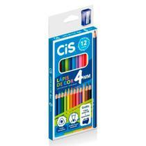 Lápis de Cor+Apontador+Lapis Grafite Cis c/12 - Mina 4mm - Sertic