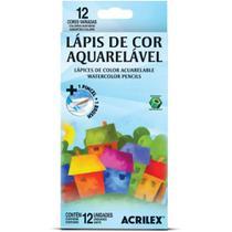 Lápis de cor aquarelável 12 cores acrilex -