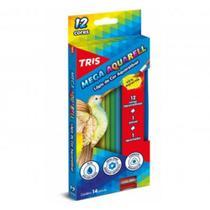 Lápis de Cor Aquarelável 12 Cores Triangular Tris Mega Aquarell - Bic