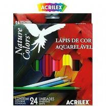 Lápis de Cor Aquarelável 24 Cores Acrilex - Wessel
