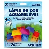 Lápis de cor aquarelável 24 cores acrilex -