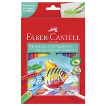 Lápis de Cor Aquarelável 36 Cores Sextavado Faber-Castell 120236 -