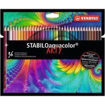 Lápis de Cor Aquarelável 36 Cores Stabilo Aquacolor Arty - 1636/1-20 -