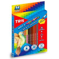 Lápis de Cor Aquarelável 36 Cores Triangular Tris Mega Aquarell -