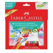Lapis de Cor Aquarelavel 60 Cores com 1 Estojo e 1 Pincel Faber Castell -