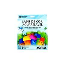 Lápis de Cor Aquarelável Acrilex 024 Cores 09654 -
