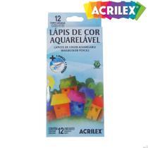Lápis de Cor Aquarelável Acrilex 12 cores -