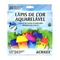 Lápis de Cor Aquarelável Acrilex 24 Cores 09654 -