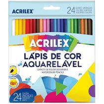 Lápis de Cor Aquarelável Acrilex - 24 Cores -