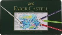 Lápis de Cor Aquarelável Albrecht Dürer 60 Cores c/ Estojo Metálico - Faber-Castell UNICA - Faber Castell