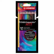 Lápis de cor Aquarelável Aquacolor Arty 12 Cores - Stabilo -