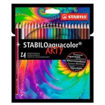 Lápis de cor Aquarelável Aquacolor Arty 24 Cores - Stabilo -