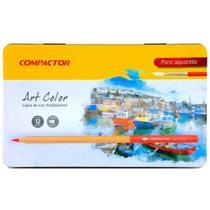 Lápis de Cor Aquarelável Art Color com 12 Cores - Compactor -