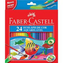 Lápis de Cor Aquarelável c/ 24 Cores - Faber-Castell -