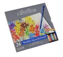 Lápis de Cor Aquarelável Cretacolor Brevilliers Aqua Monolith Estojo Metal 024 Cores 250 24  250 24 -