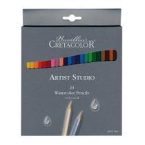 Lápis de Cor Aquarelável Cretacolor Brevilliers Brevillier Artist Studio 024 Cores 28124  28124 -