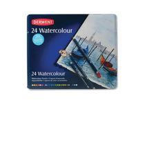 Lápis de Cor Aquarelável Derwent Watecolour Estojo Metal 024 Cores 32883  32883 -