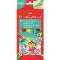 Lápis De Cor Aquarelável Ecolápis 12 Cores Faber Castell -