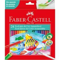 Lapis de cor aquarelavel ecolapis 24 cores faber castell - Faber-Castell