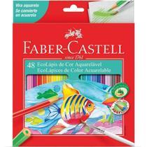 Lapis de cor (aquarelavel) Ecolapis 48 Cores Faber-Castell - Faber Castell