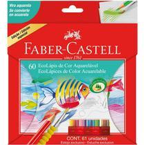 Lapis De Cor Aquarelavel Ecolapis 60 Cores  Faber-Castell -