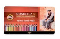Lápis de Cor Aquarelável Koh I Noor Mondeluz Estojo Metal 072 Cores 3727  3727 -