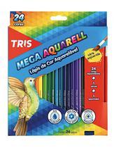 Lápis de Cor Aquarelável Mega Aquarell 24 Cores - Summit