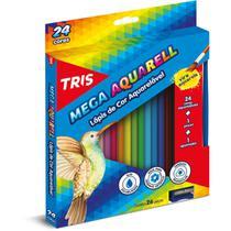 Lapis de cor aquarelavel mega aquarell 24 cores unidade - Summit