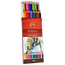 Lapis de cor aquarelavel mondeluz com 24 cores  kn0037180024 - Koh I Noor