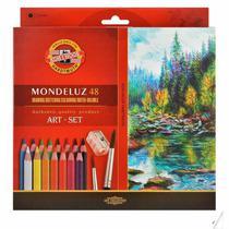 Lapis de cor aquarelavel mondeluz com 48 cores  kn0037130048 - Koh I Noor