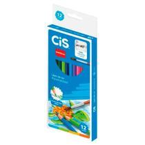 Lápis de Cor Aquarelável Nataraj com 12 Cores com Apontador e Pincel - Cis -