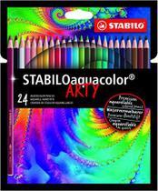 Lápis de Cor Aquarelável Stabilo Aquacolor Arty 24 Cores -