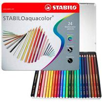 Lápis de Cor Aquarelável Stabilo Aquacolor Estojo Metal 024 Cores 1624-5  1624-5 -
