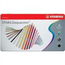 Lápis de Cor Aquarelável Stabilo Aquacolor Estojo Metal 036 Cores 1636-5  1636-5 -